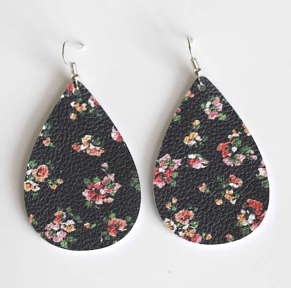 aster floral teardrop earring